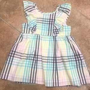Cat & Jack Light Plaid Dress with Ruffles